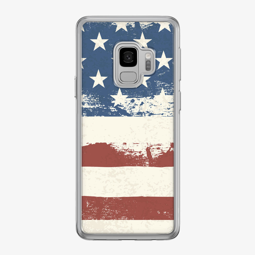 Graphic American Flag Samsung Galaxy Phone Case by Tiny Quail