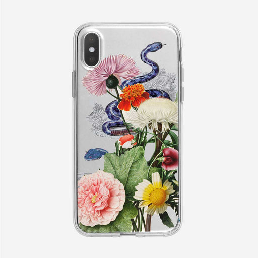Vintage Floral Snake Clear iPhone Case by Tiny Quail
