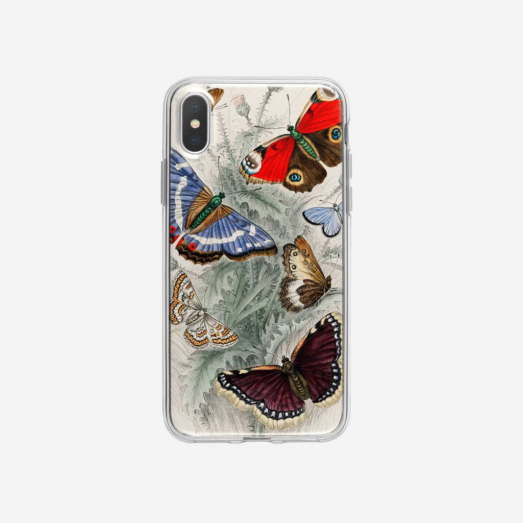 Vintage Moths and Butterflies iPhone Case from Tiny Quail