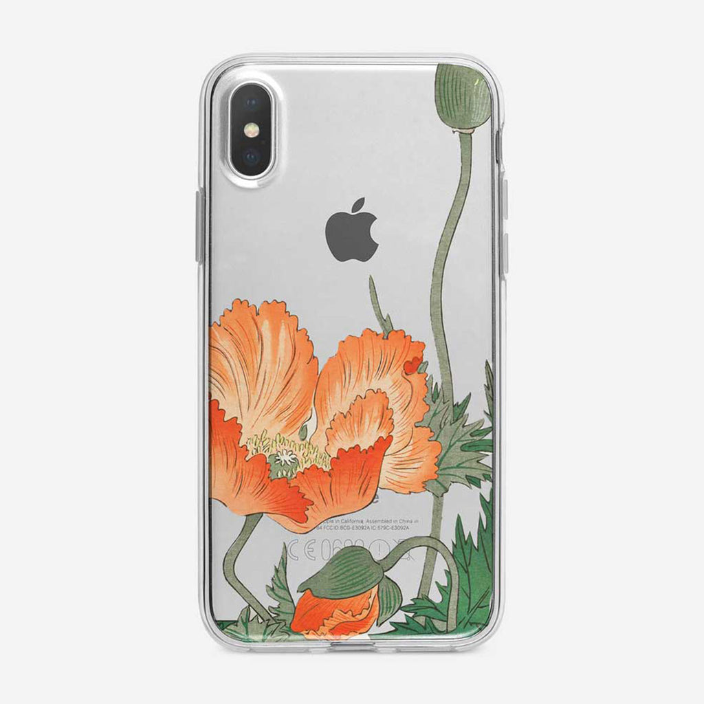 Vintage Poppy Floral iPhone Case From Tiny Quail