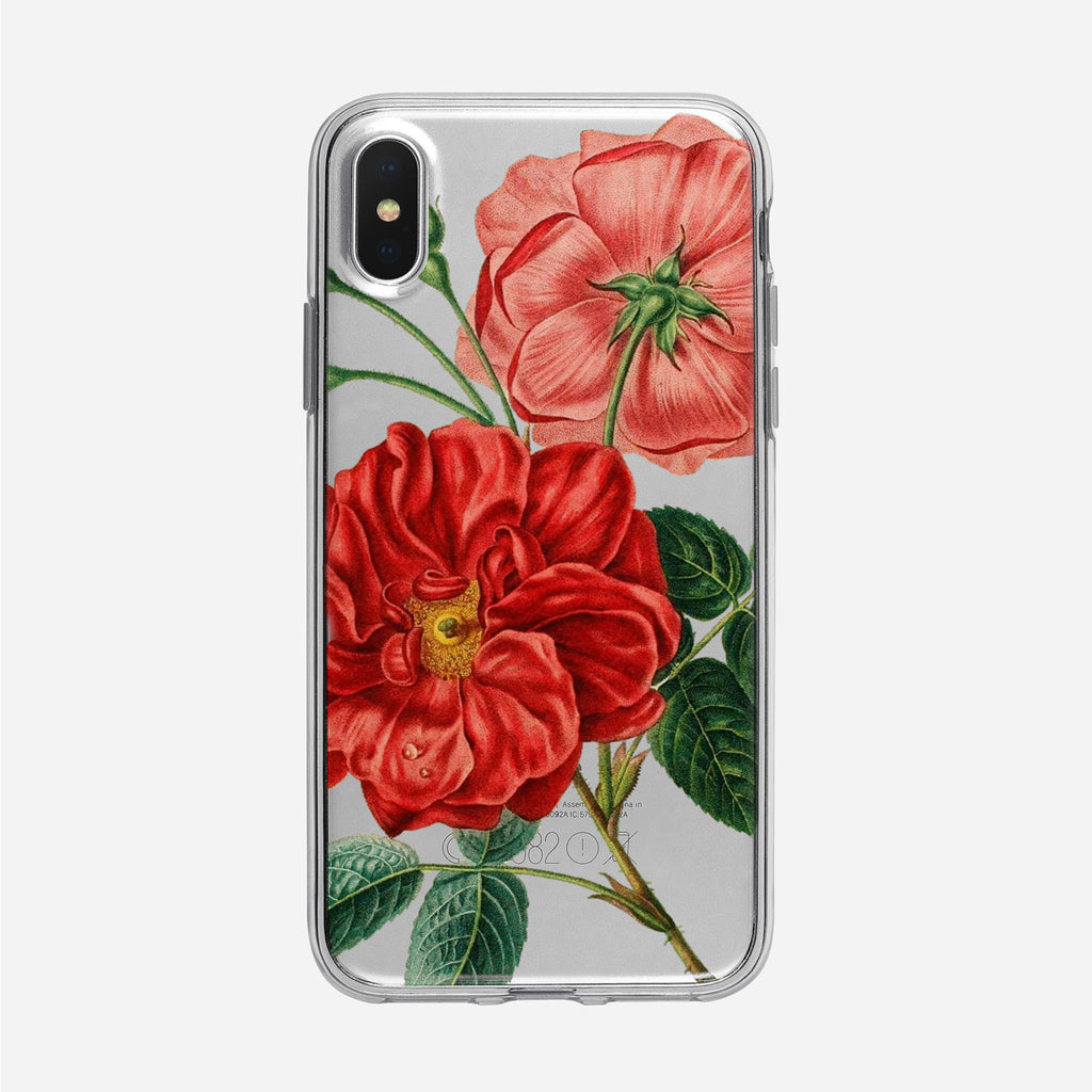 Rose Floral Clear iPhone Case from Tiny Quail