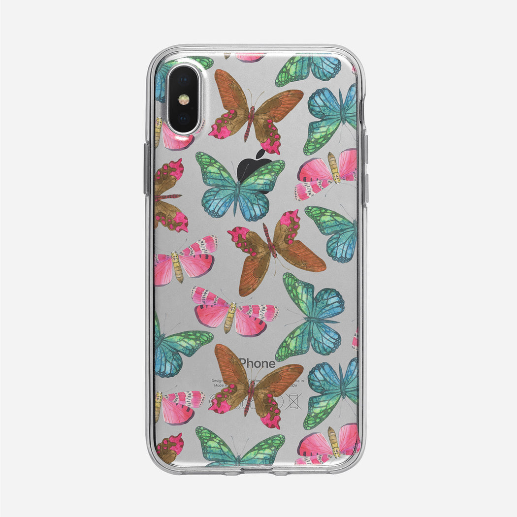 Colorful Watercolor Butterflies iPhone Case by Tiny Quail