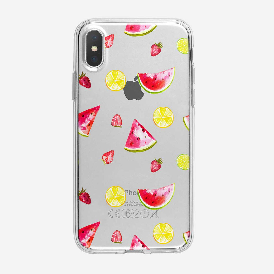 Watermelon And More Pattern iPhone Case from Tiny Quail