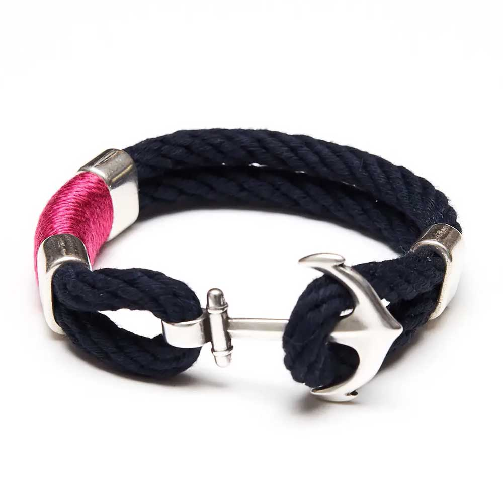 Waverly Bracelet For Women, Navy/Pink/Silver by Allison Cole Jewelry