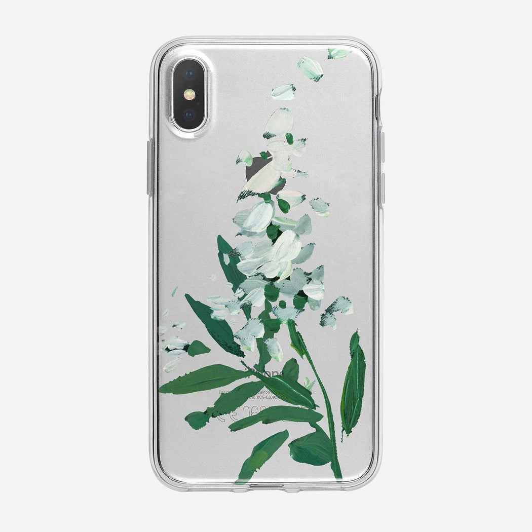 Canvas White Flowers on Branch iPhone Case from Tiny Quail
