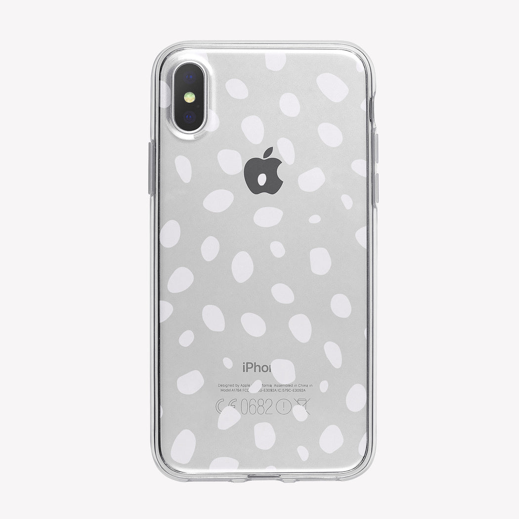 White Spots Pattern Clear iPhone Case from Tiny Quail
