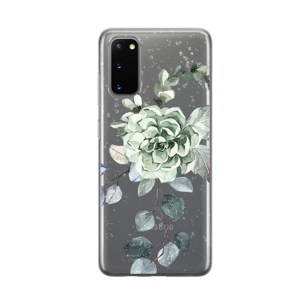 Snowy Winter Bouquet Samsung Galaxy Phone Case from Tiny Quail