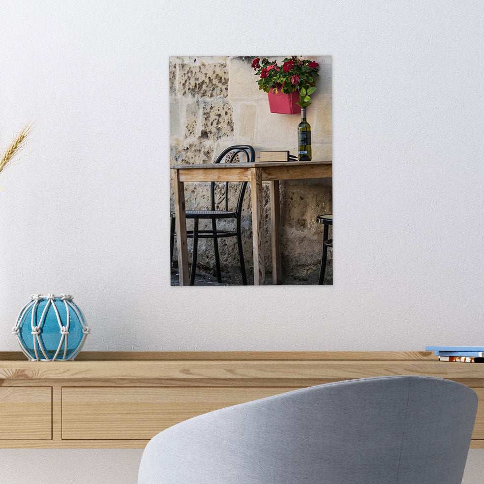 Rustic Table With Wine Glass Wall Art From Tiny Quail