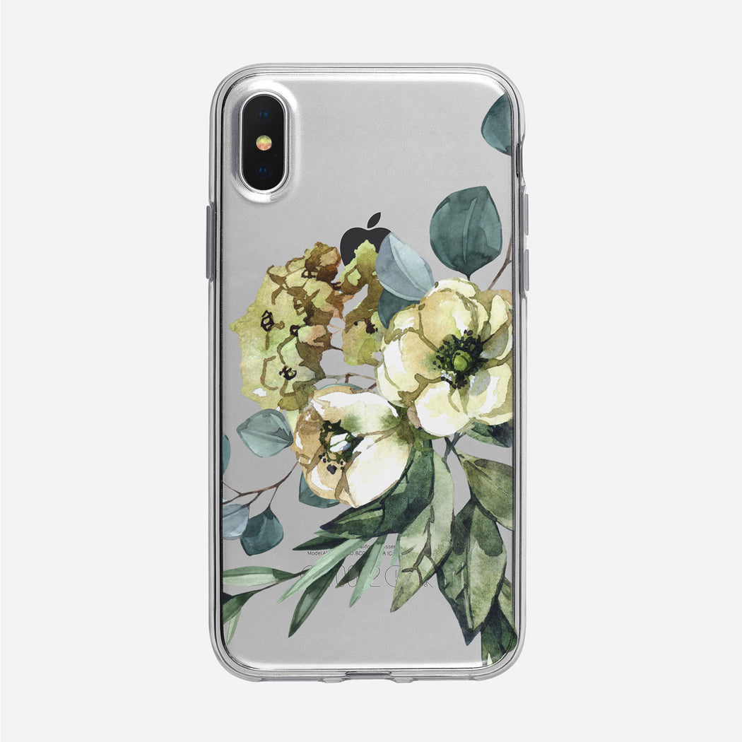 Winter Bouquet iPhone Clear Case from Tiny Quail