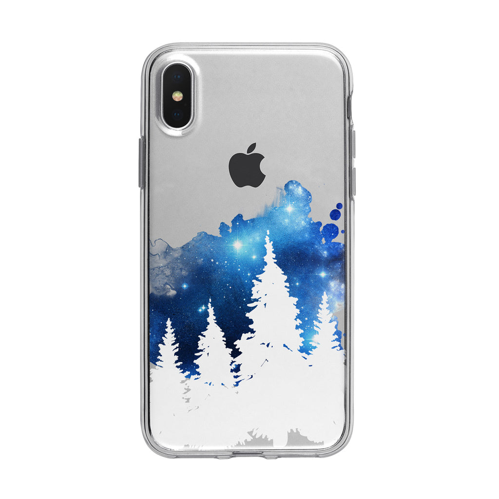 Cosmic Winter Forest Sky iPhone Case from Tiny Quail