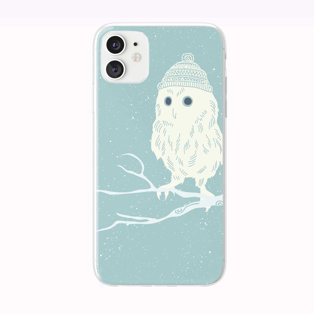 Winter Owl With Hat iPhone Case from Tiny Quail