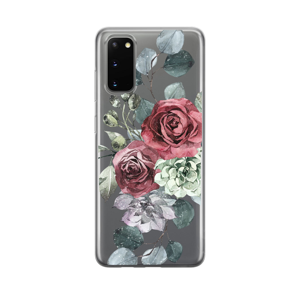 Winter Rose Samsung Galaxy Phone Case From Tiny Quail