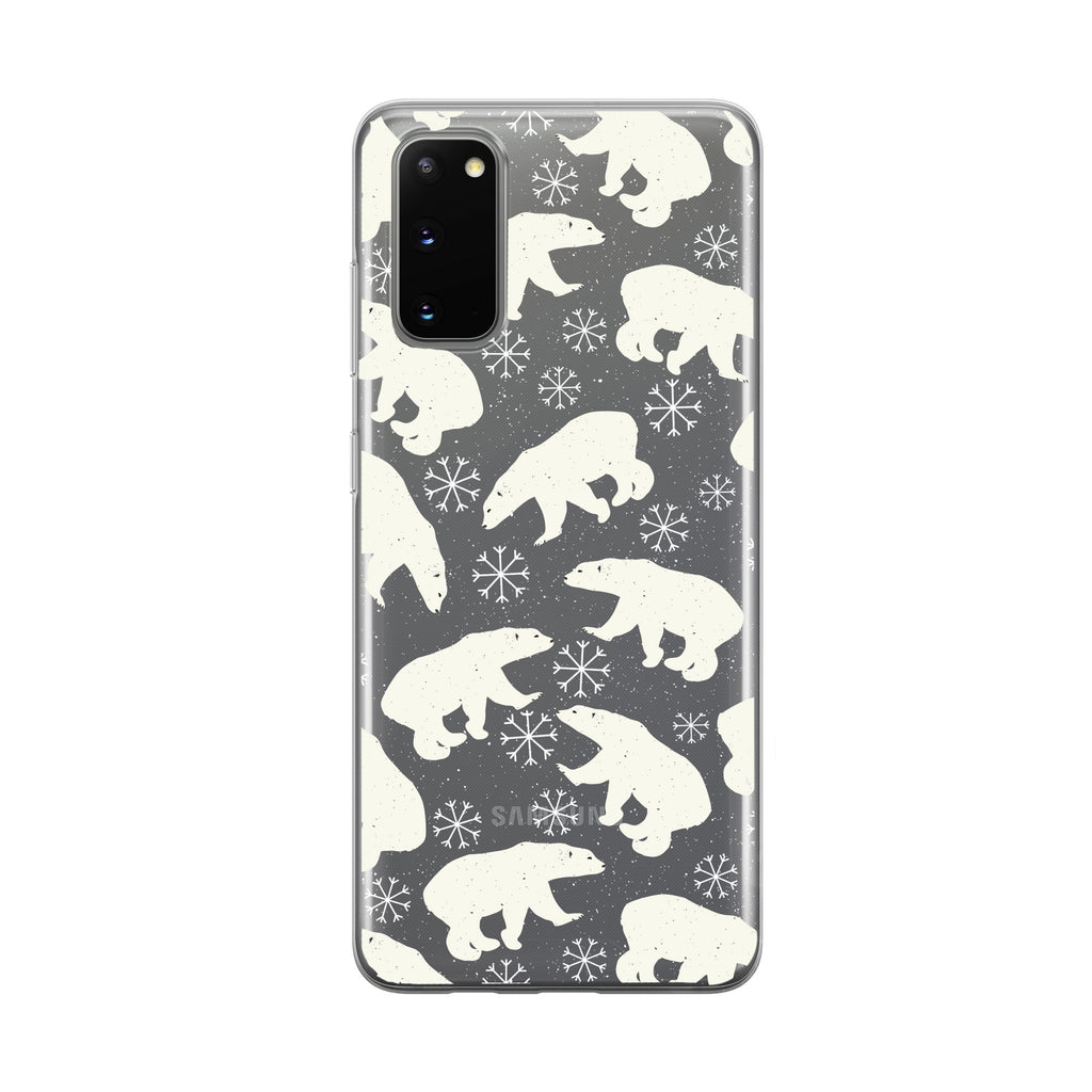 Winter Snowflake Polar Bear Samsung Galaxy Phone Case From Tiny Quail