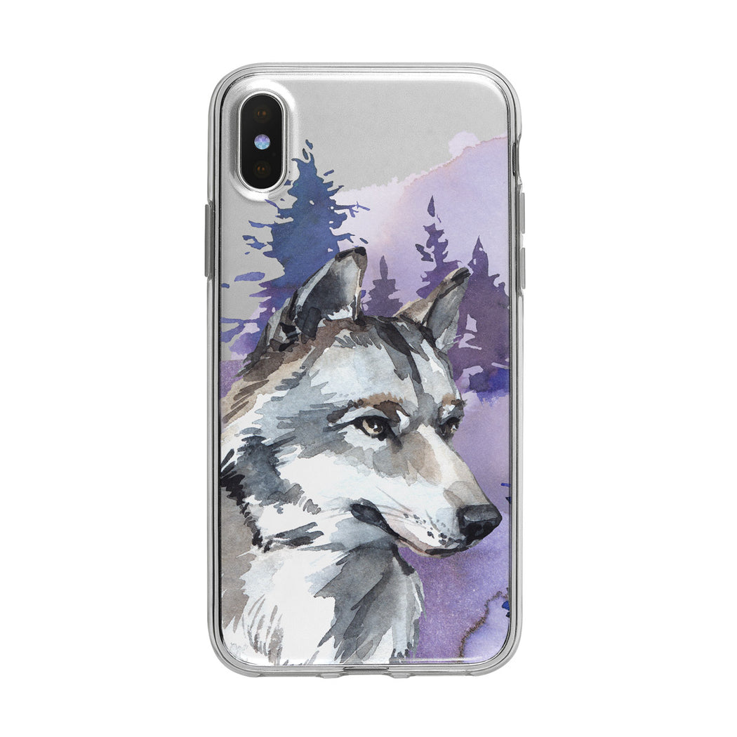 Handsome Forest Wolf iPhone Clear Case from Tiny Quail
