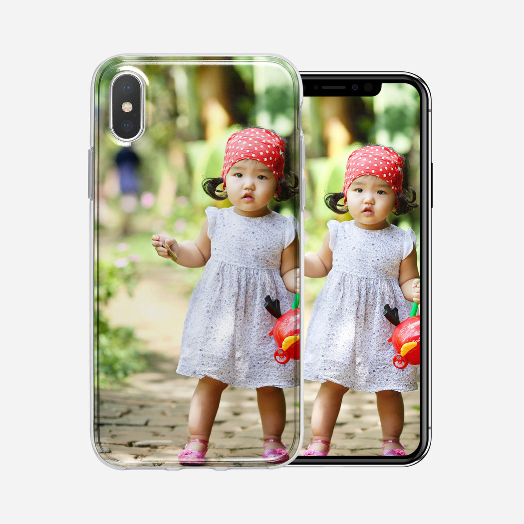 Toddler with scarf, iPhone XS MAX Custom Phone Case From Tiny Quail