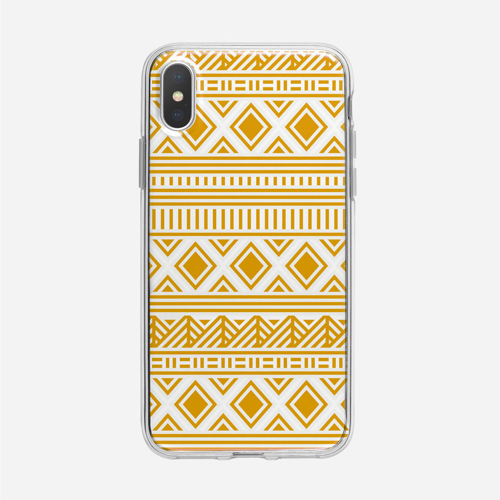 Yellow Tribal Pattern Clear iPhone Case from Tiny Quail