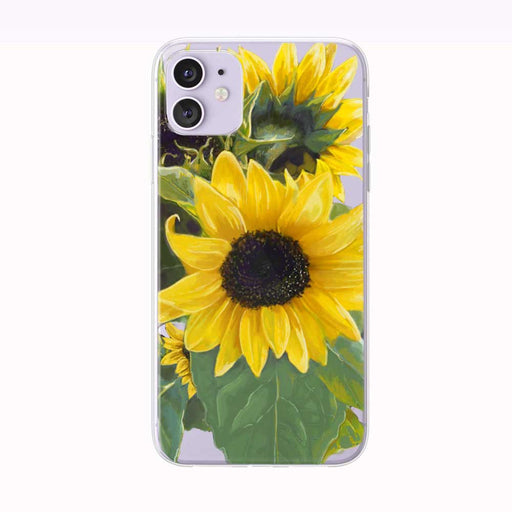 Beautiful Summer Sunflowers iPhone Case by Tiny Quail