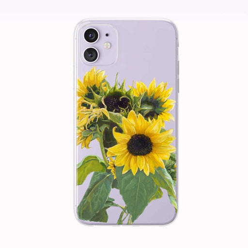 Beautiful Yellow Sunflowers iPhone Case by Tiny Quail