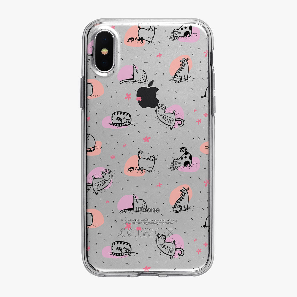 Cat Philosophy Multicolor Yoga iPhone Case from Tiny Quail