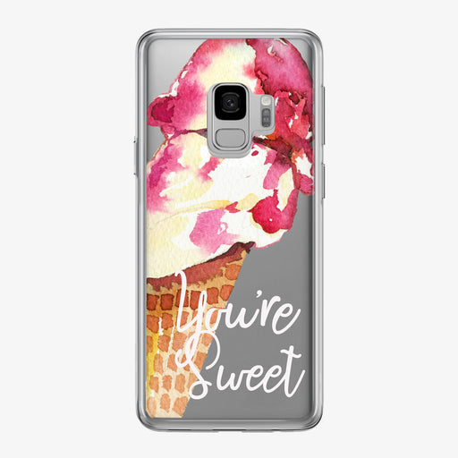 You're Sweet Ice Cream Cone Samsung Phone Case from Tiny Quail