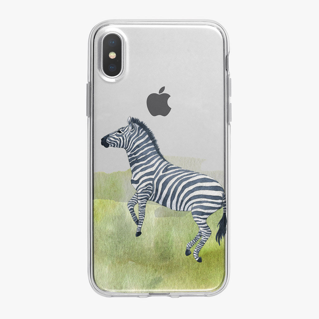 Watercolor Zebra iPhone Case from Tiny Quail