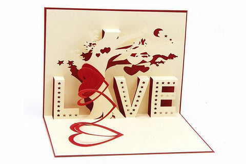 3D Pop-Up Art LOVE Card