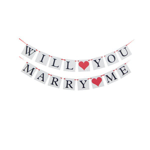 will you marry me banner proposal decorations