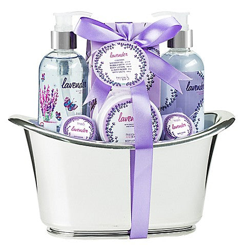 Image of Freida & Joe lavender bath spa set