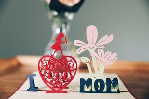 I Love Mom 3D Pop-Art Card