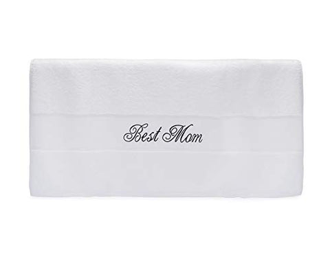 Image of Best Mom Terry Cotton Bath Towel