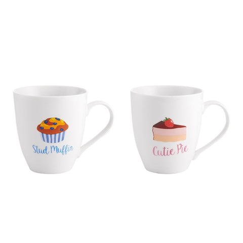 Image of stud muffin cutie pie couple mugs