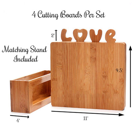 romantic wood anniversary cutting boards set for kitchen