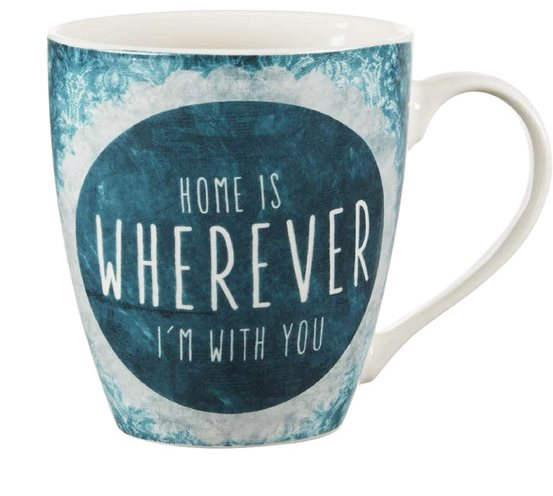 home is where I am with you mug by pfaltzgraff