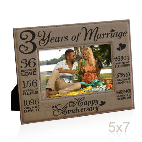 3rd Anniversary Décor & Leather Gift Package