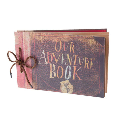 Image of our adventure scrapbook for romantic first anniversary gift