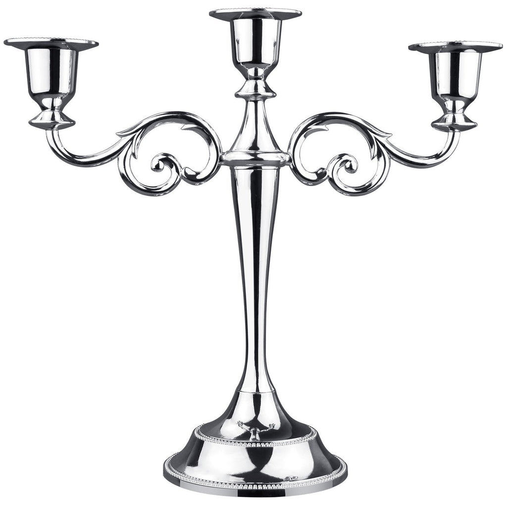 Three-Candle Candelabra with Matching Candles