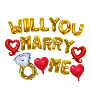 will you marry me balloon sign