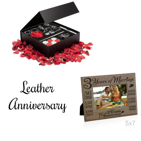 Image of 3rd Anniversary Décor & Leather Gift Package