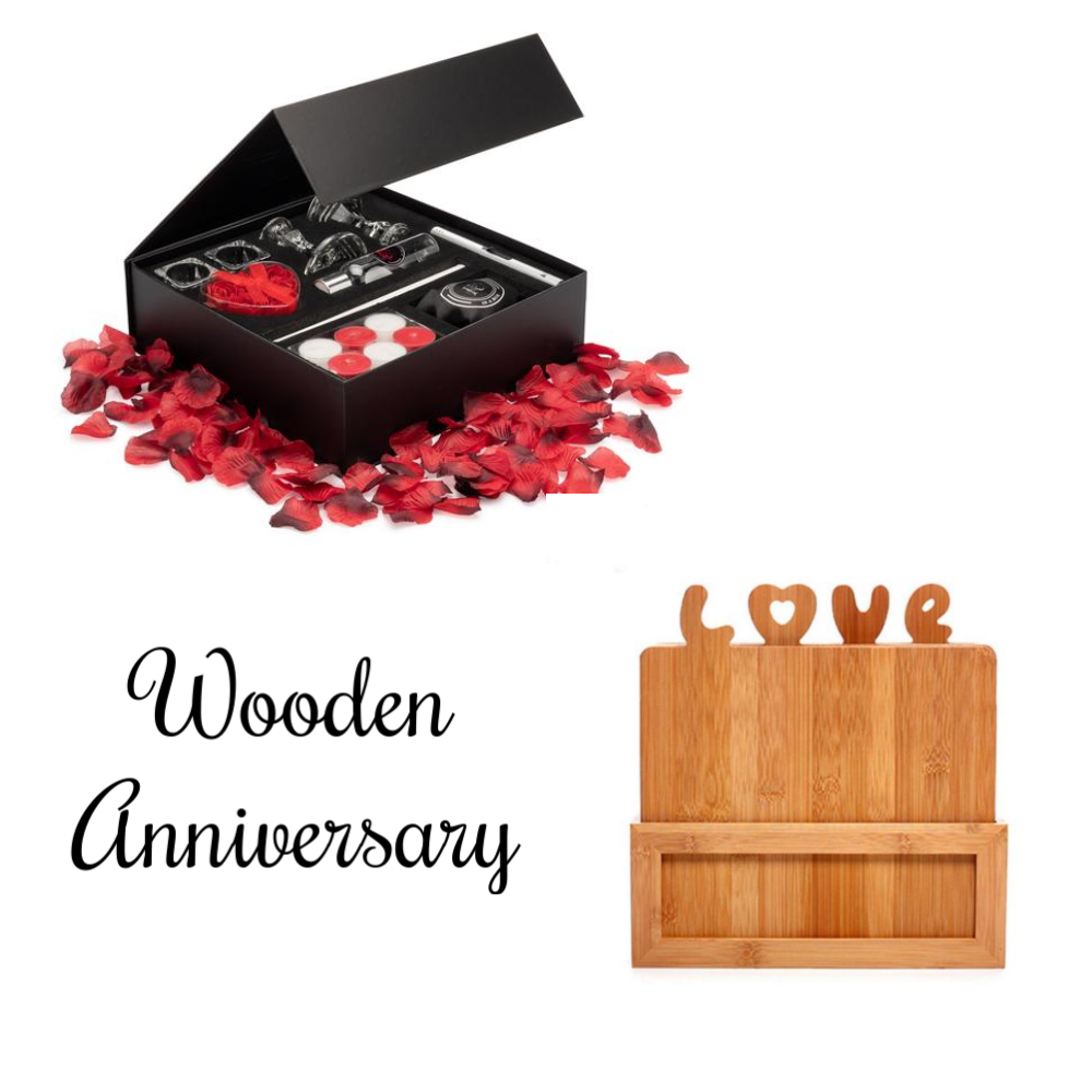 5th Anniversary Décor & Wooden Gift Package