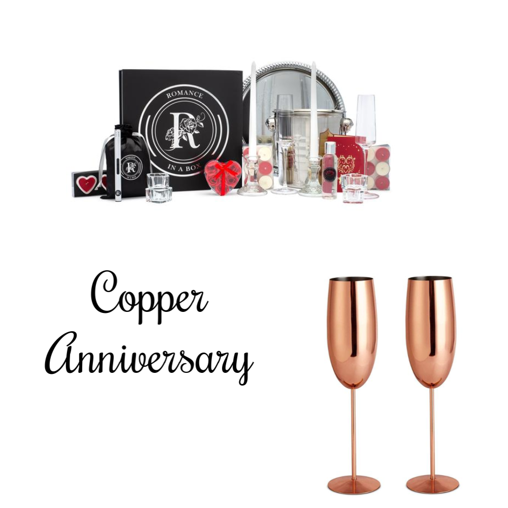 7th Anniversary Décor & Copper Gift Package