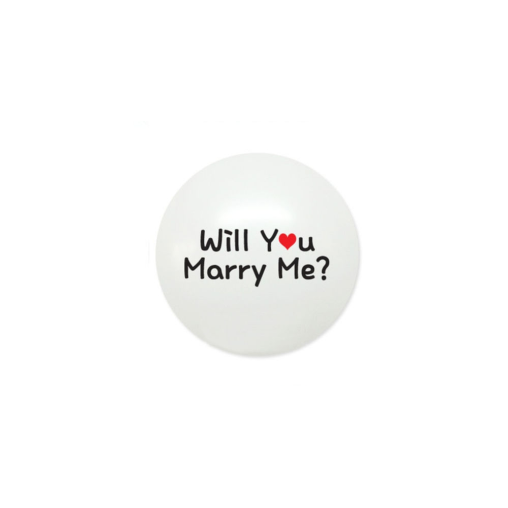 White Will You Marry Me Latex Balloon Set of 24