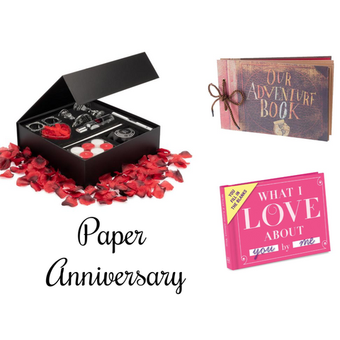 Image of first anniversary gift package for couples