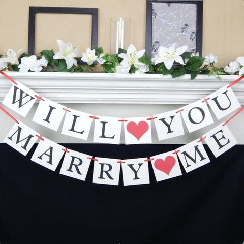 Image of will you marry me sign proposal decoration