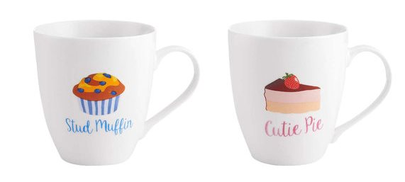 stud muffin cuties pie mug set by pfaltzgraff