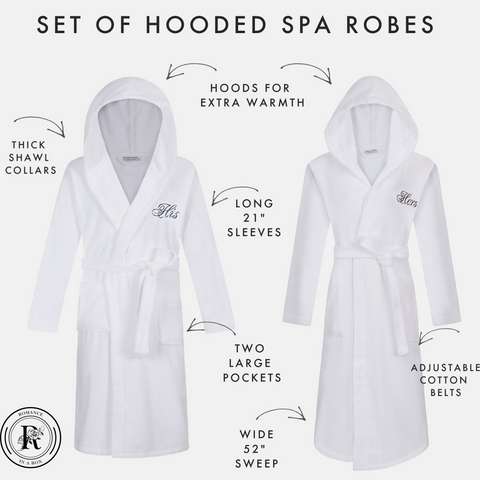Image of his and her hooded robes