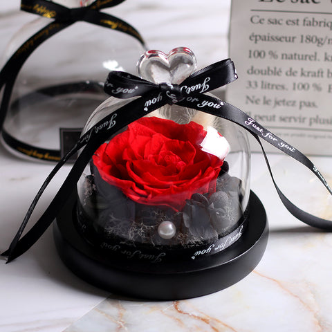 Image of eternal rose under glass dome romantic rose gift
