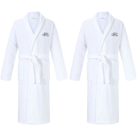Image of his and his gay wedding gifts robes for gay couples