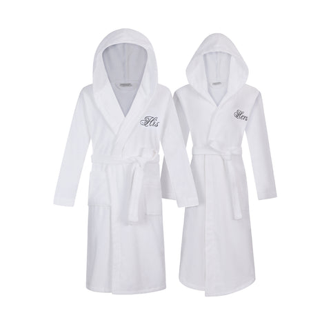 Image of his and hers robes with hood