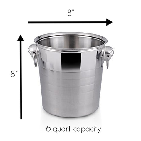 large 6 quarter champagne ice bucket wine chiller