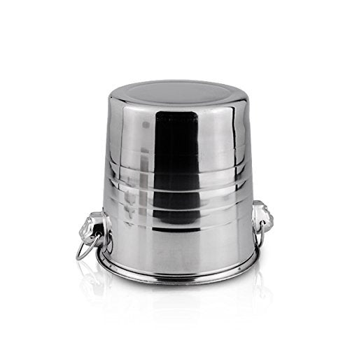 stainless steel champagne ice bucket wine chiller